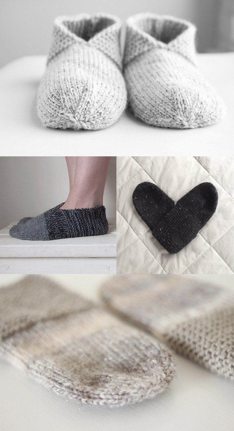 So many Simple House Slippers | Pinterest | Dos agujas, Tejido y ...