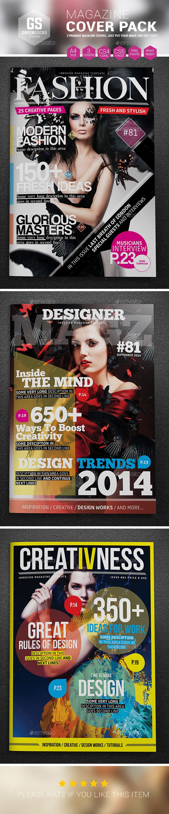 Magazine Cover Templates | Magazine cover template, Cover template ...