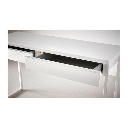 BESTÅ BURS Desk, High Gloss White