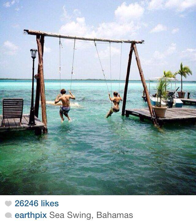 Sea swing, Bahamas
