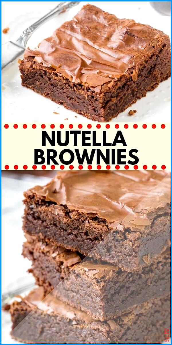 Nutella Brownies Nutella Brownies little universe little universe These easy Nutella Brownies are f