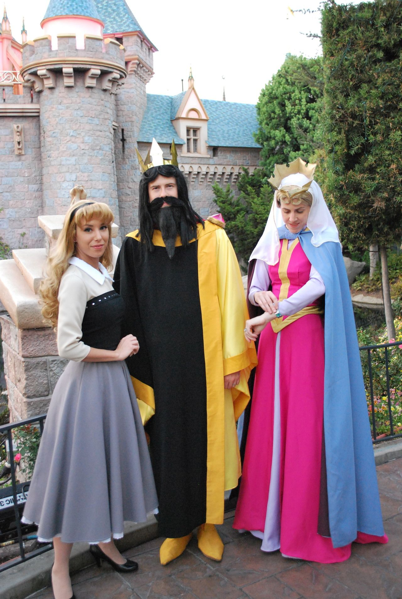 Hahaha, weird Disneyland costumes. All I can picture is the moms ...