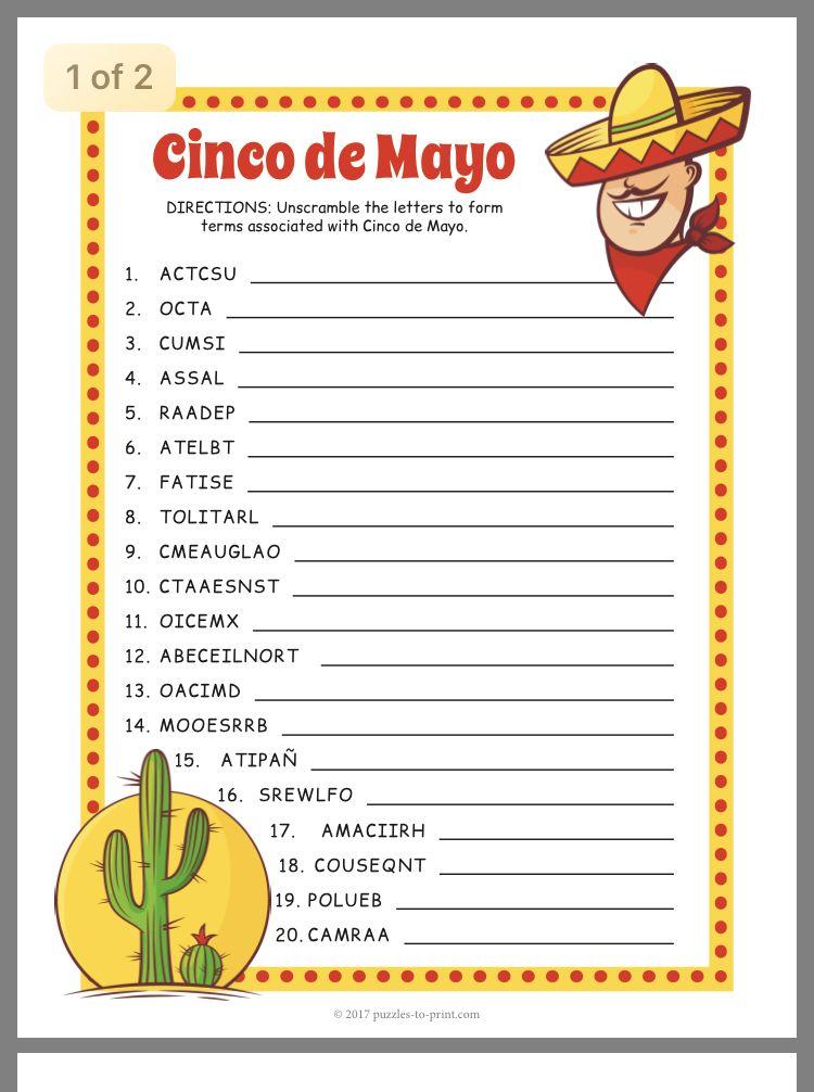 Pin By Donice Berkemeyer On Taco Christmas 19 Cinco De Mayo Cinco De Mayo Crafts Cinco De Mayo Activities