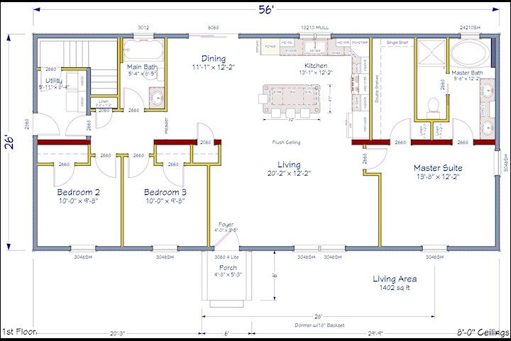 Pin By Designer Homes On New Ranch Model Home House Floor Plans Floor Plans Ranch House Layout Plans