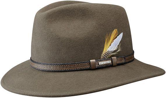 Stetson Ripon - felt fedora hat in brown  e0fd6791d3