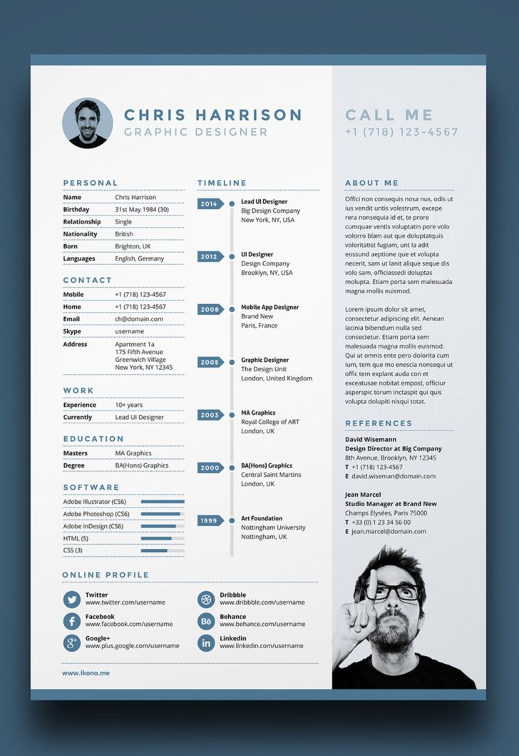 7 Free Editable Minimalist Resume CV In Adobe Illustrator And ...