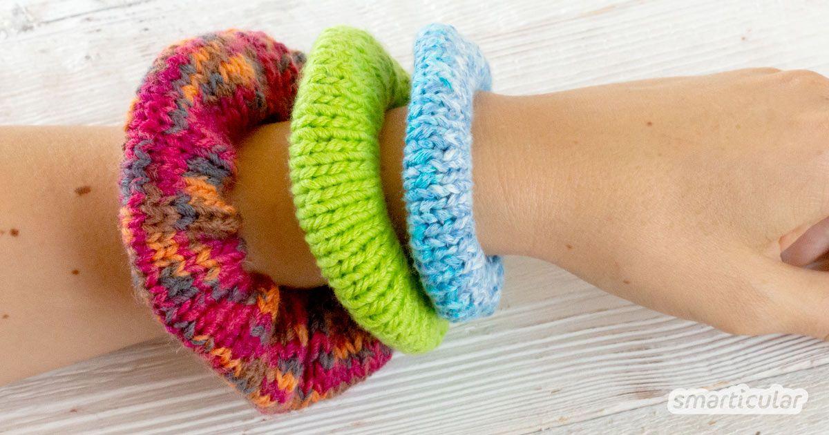Photo of Haargummis selber machen: Einfach stricken aus Wollresten