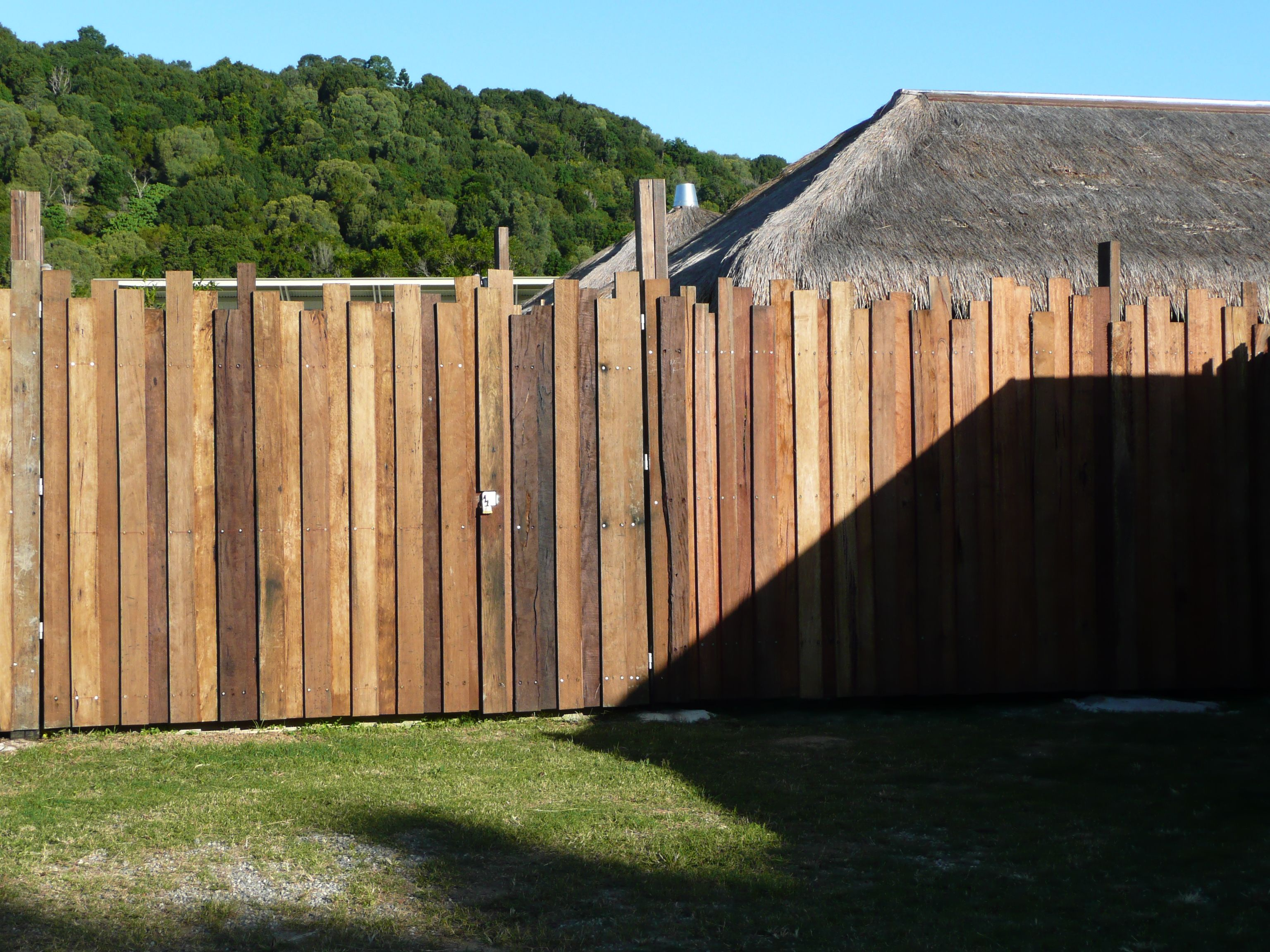 Timber fence with different height boards 12 home garden timber fence with different height boards baanklon Gallery
