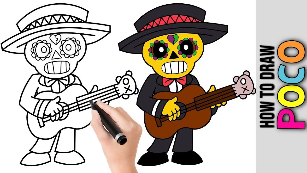 How To Draw Poco From Brawl Stars Cute Easy Drawings Tutorial