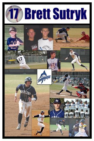 Baseball poster I made for senior night