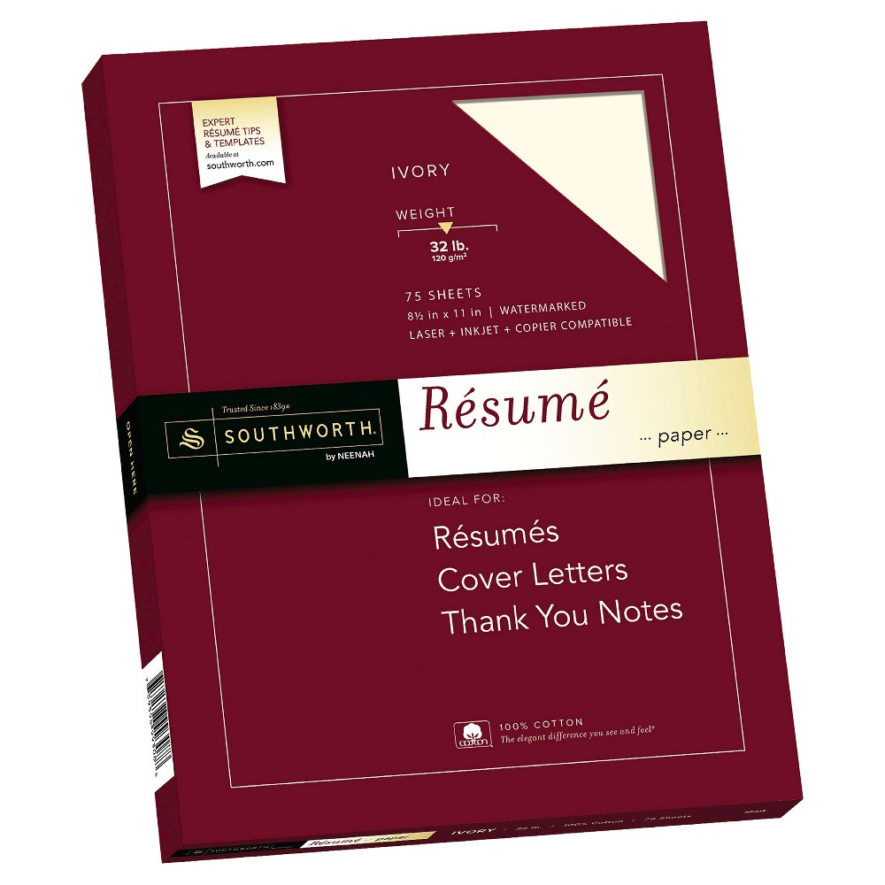 Resume Writers Association 100Ct Ivory Copy Paper Light Offwhite  Copy Paper Ivory And Products