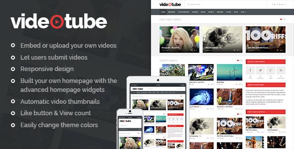 VideoTube - A Responsive Video WordPress Theme