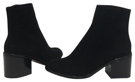 39ebef8639a Robert Clergerie Black Suede Women s Heels Ankle M Boots Booties Size EU 40  (Approx. US 10) Regular (M
