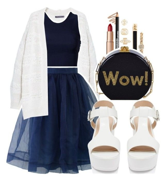 """""""Wow, 2016"""" by mindless-christabel ❤ liked on Polyvore featuring Violeta by Mango, Oneness, Chicwish, Charlotte Russe, Charlotte Tilbury, Style & Co., Forever New and Edie Parker"""