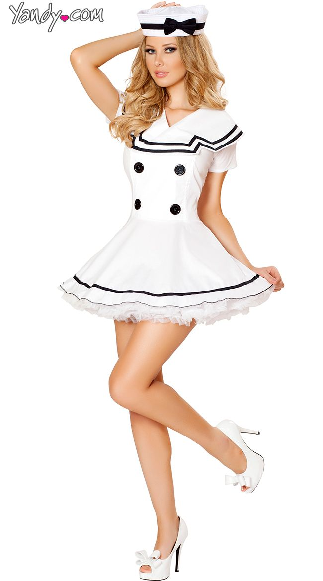 Sexy White Sailor Costume  Bedroom Costumes  Sailor Costumes, Sailor Halloween Costumes, Halloween Costumes-4395