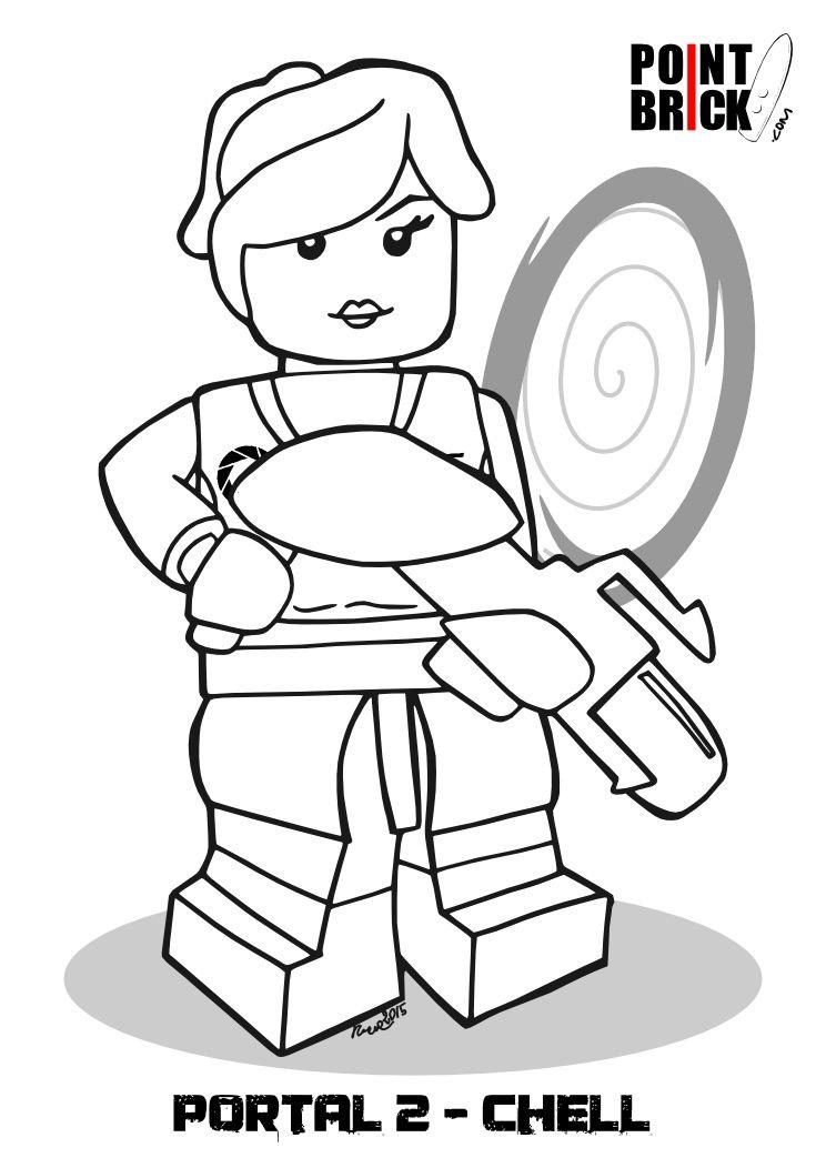 disegni da colorare lego dimensions chell portal 2 clicca sullimmagine per scaricarla gratuitamente