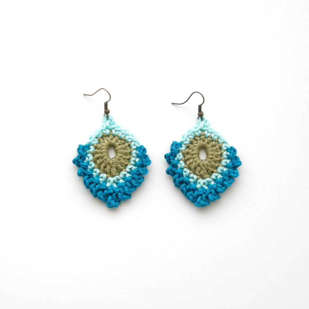 Free crochet pattern peacock feather earrings pendientes anillos free crochet pattern peacock feather earrings dt1010fo