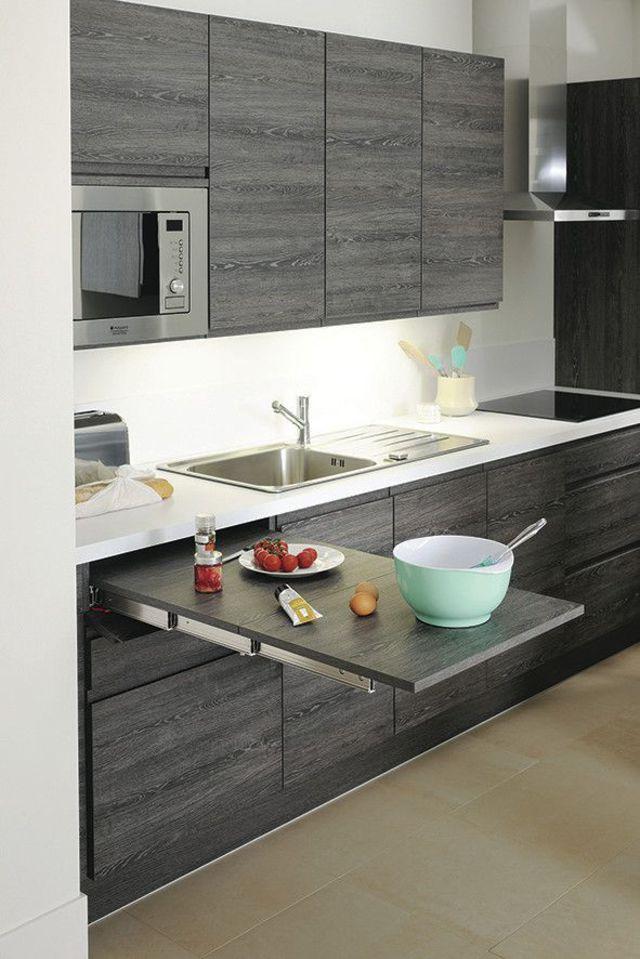 Rangements pratiques pour la cuisine Cuisinella, Gris gris et Mètre