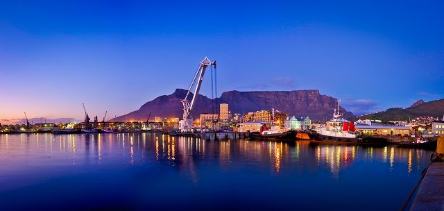 Cape Town Harbour with Table Mountain