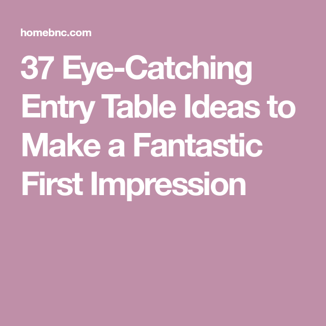 Eye catching impression