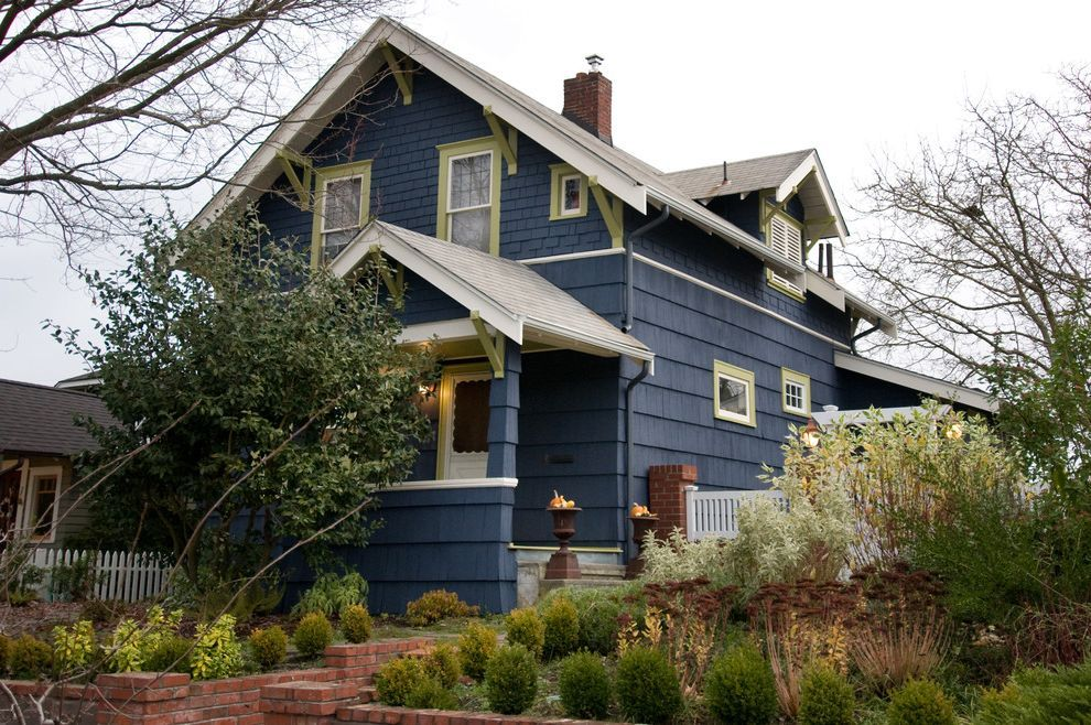 Pratt and Lambert Paint Reviews Traditional Exterior and Blue House ...