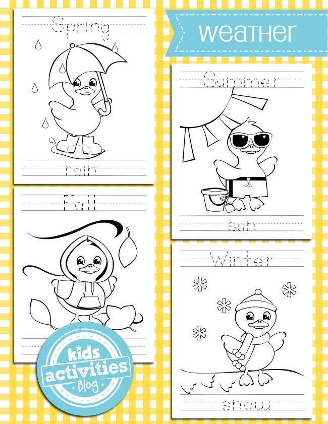 Weather Coloring Pages – Weather Worksheets for Kids