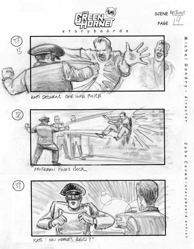 The Green Hornet Storyboard Artist John Coven  Movie