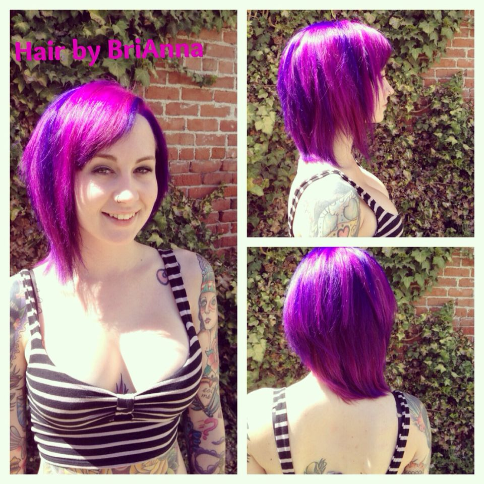 Cheshire Cat Inspired Fashion Color Hair Purple And Wild Orchid Hair By Brianna Hair Color Wild Orchid Fashion Colours