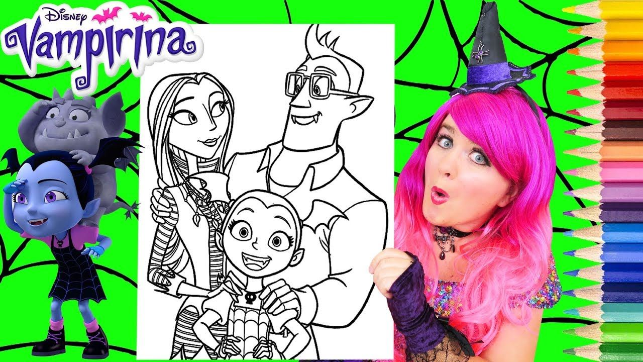 Coloring Vampirina Her Family Coloring Page Prismacolor Pencils Kimm Family Coloring Pages Family Coloring Pumpkin Coloring Pages