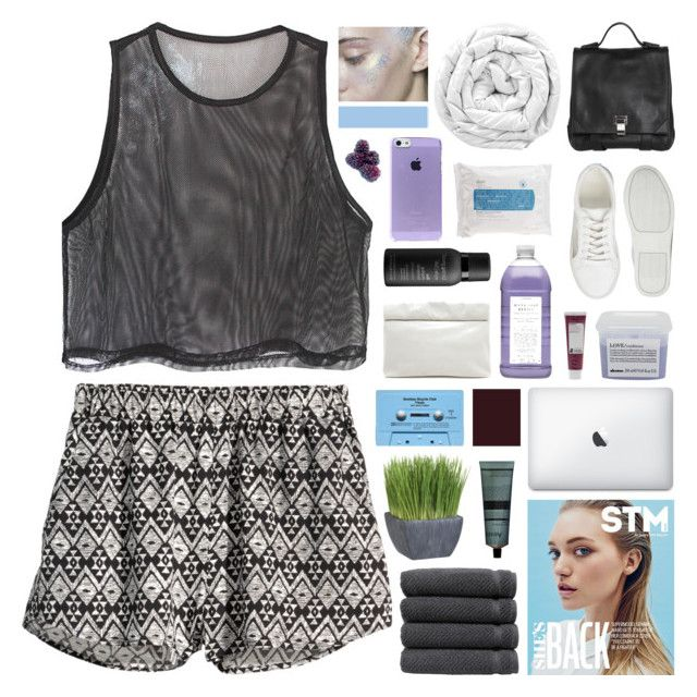 """""""I CAN FEEL MY SOUL BURNING"""" by sighbrows ❤ liked on Polyvore featuring H&M, ASOS, Davines, Korres, Linum Home Textiles, Proenza Schouler, Skyn Iceland, CASSETTE, Brinkhaus and Aesop"""