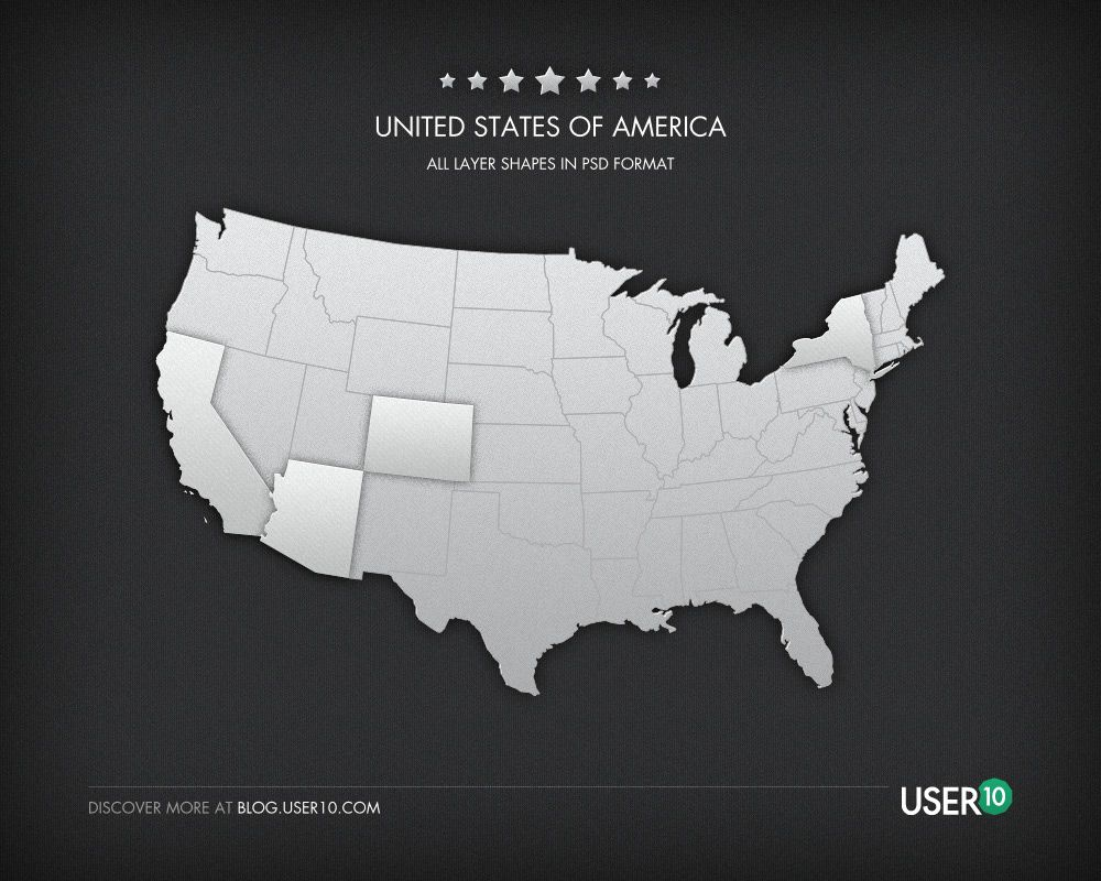 Free Vector United States Map by User10 | Freebies & Resources ...