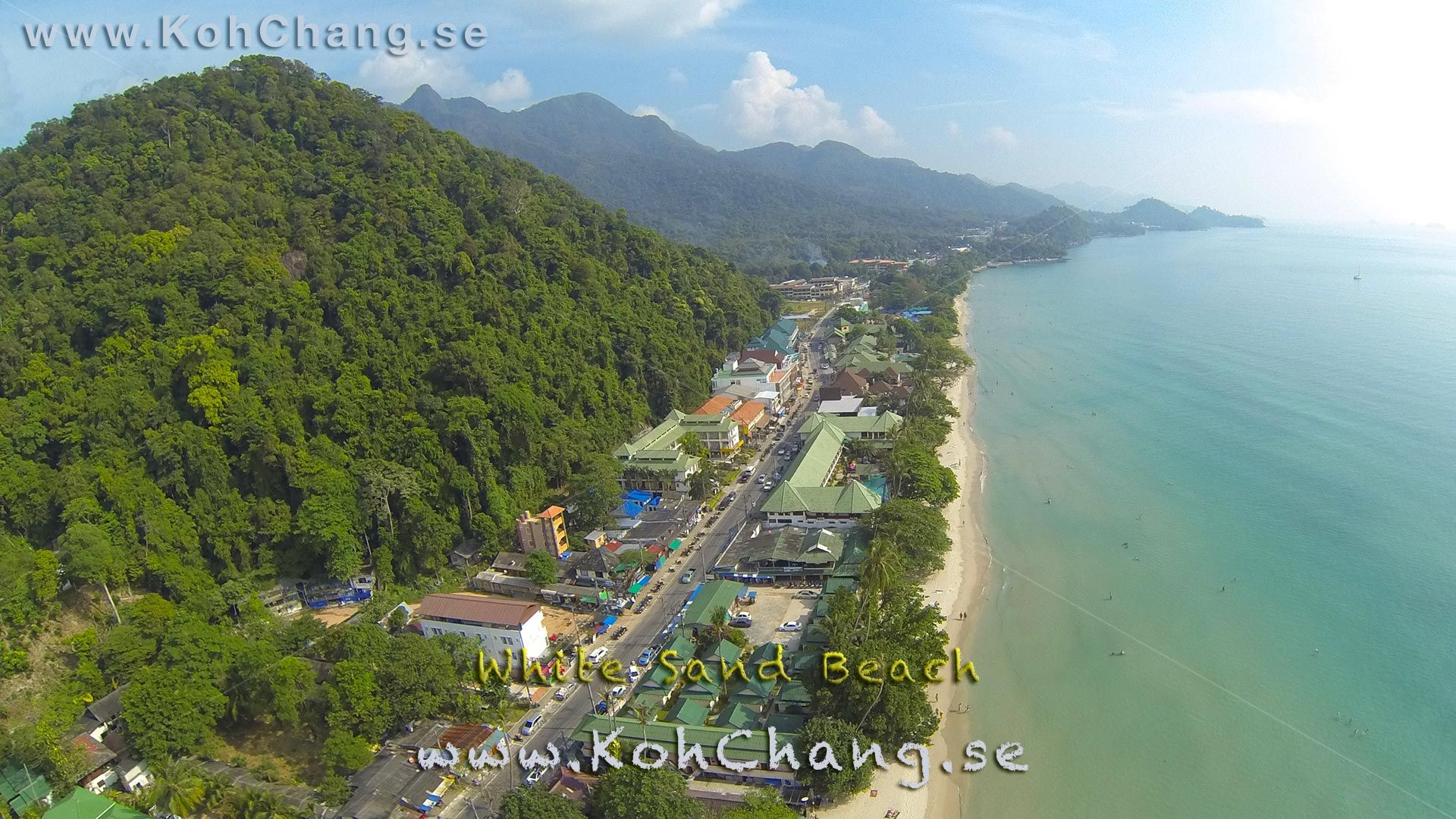 This Great Shot Of White Sand Beach Shows The Most Built Up Strip On Koh Chang