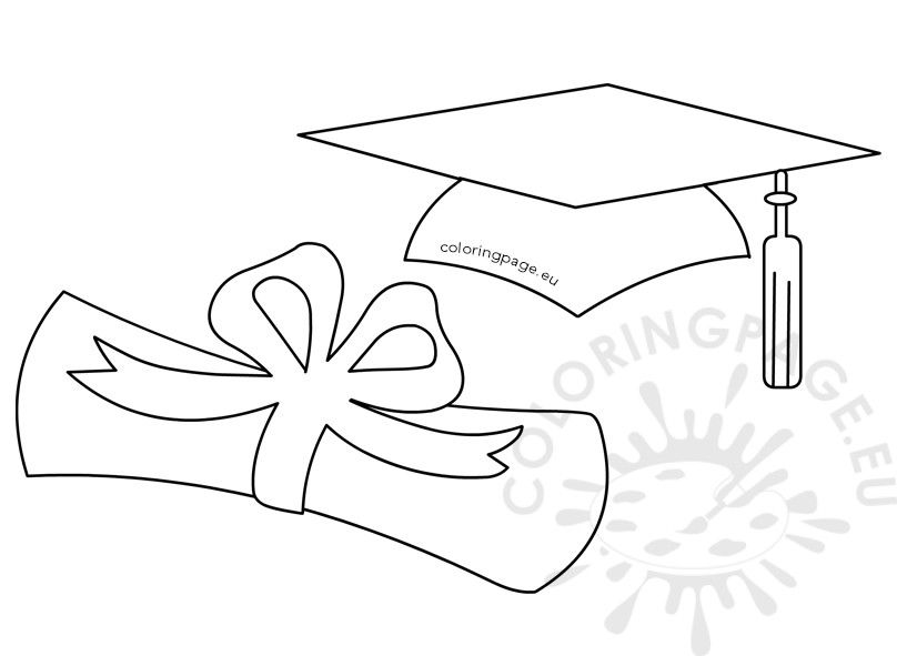 Graduation Hat And Rolled Diploma Decoracion De Graduacion