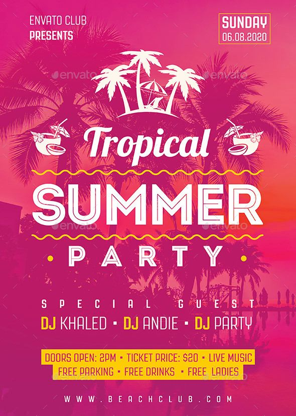 Summer Party Flyer Events Flyers Download Here Https