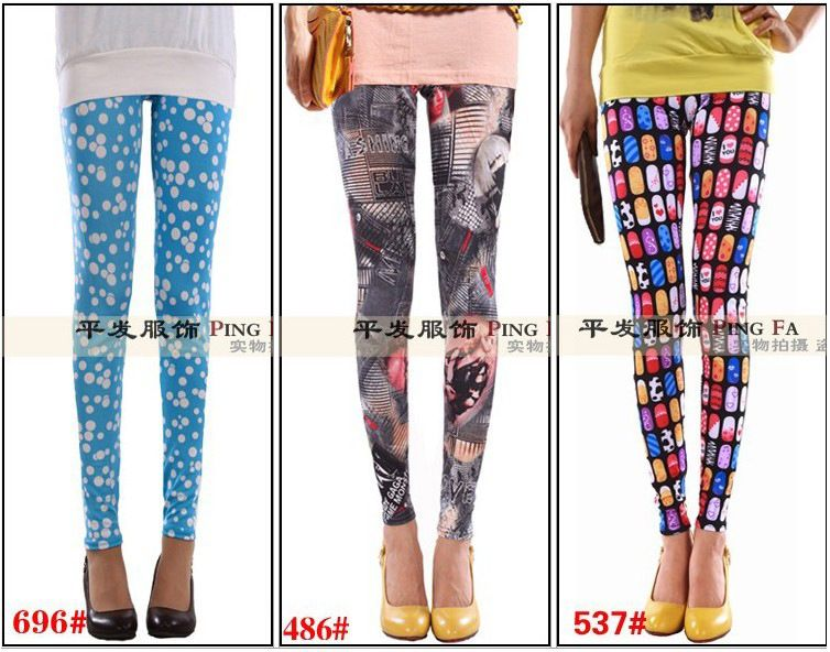 leggins for women fashion van legging plus size punk pantyhose fleece lined leggings rights christmas fitness cotton muscle hose panty