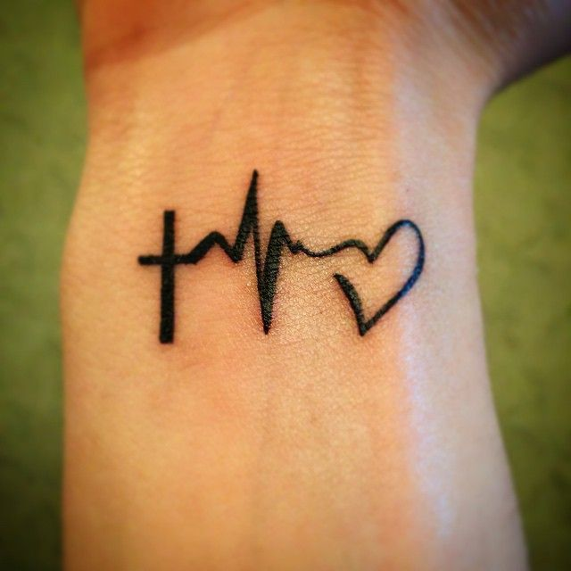 Heartbeat Tattoo Heart On Instagram