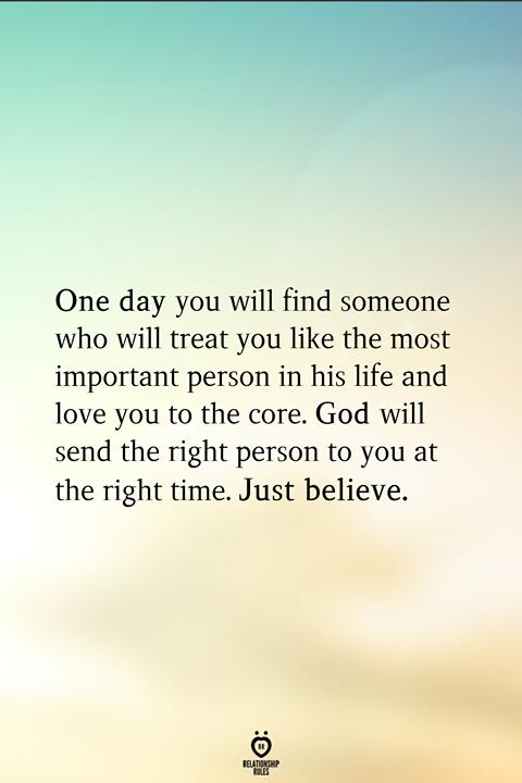 Photo of Eines Tages wirst du jemanden finden,