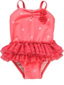Tutu Swimsuits for Baby. Old navy.