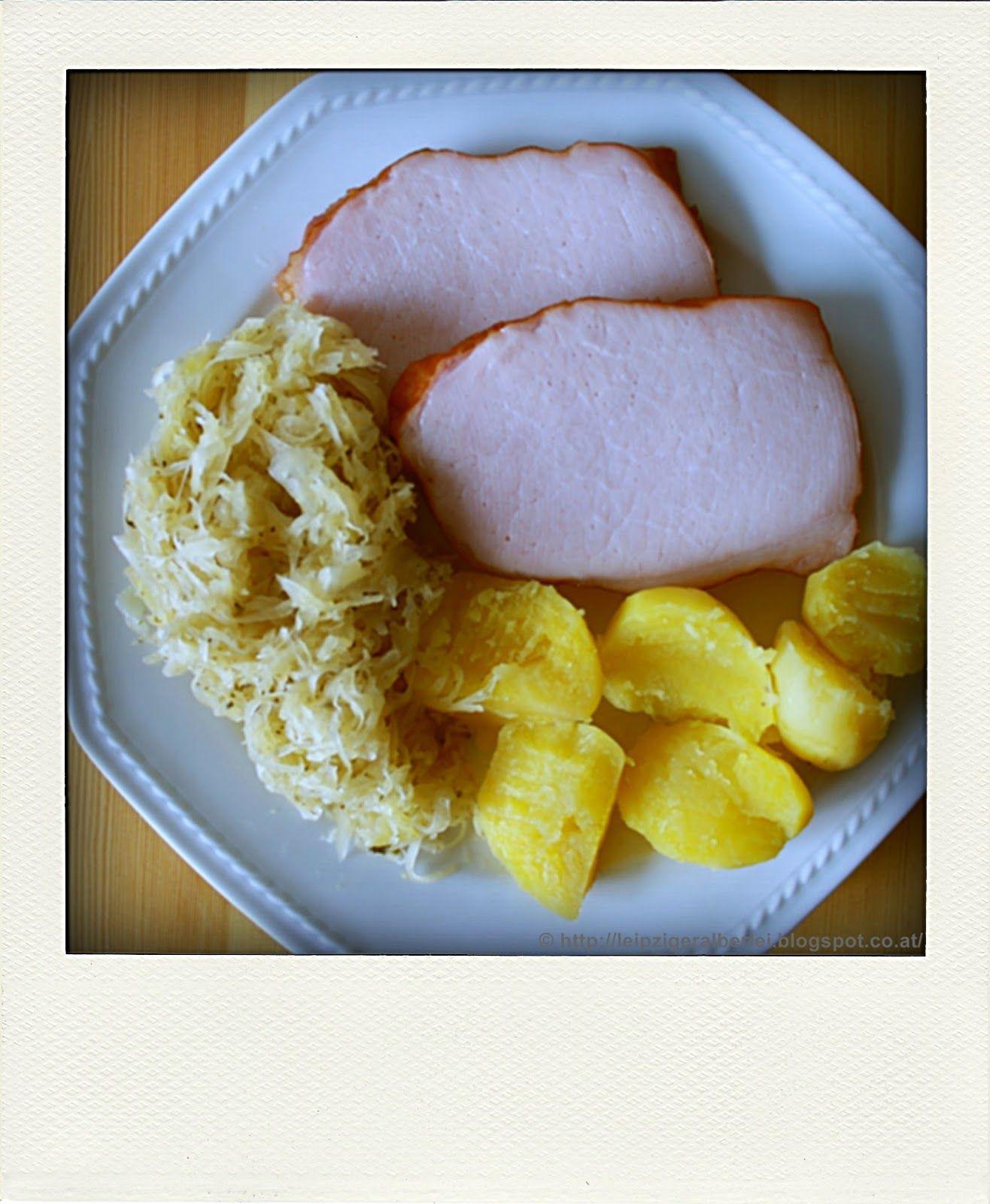 leipziger Alberlei: Kassler mit Sauerkraut und Kartoffeln