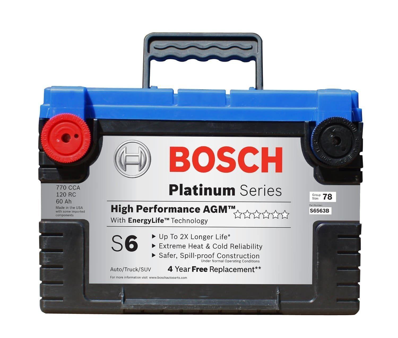 Bosch S6563b S6 Agm Car Battery Batteries