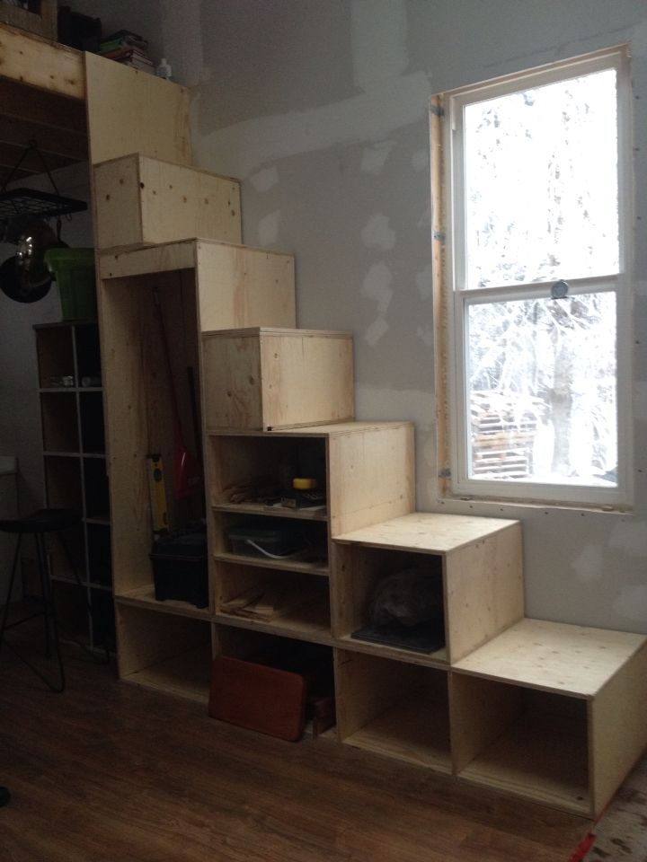 Our Closet Stairs. Made From 3/4 Inch Cabinet Grade Plywood. East CoastPlywoodTiny  ...