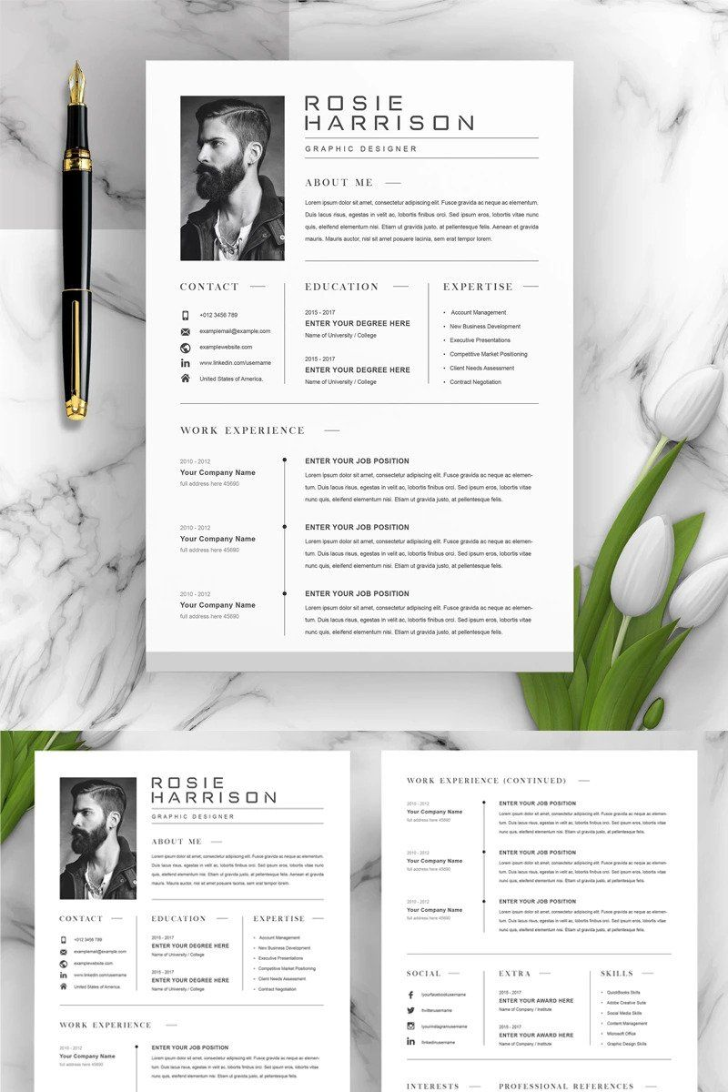 Make professional cv, resume and portfolio design in 2020