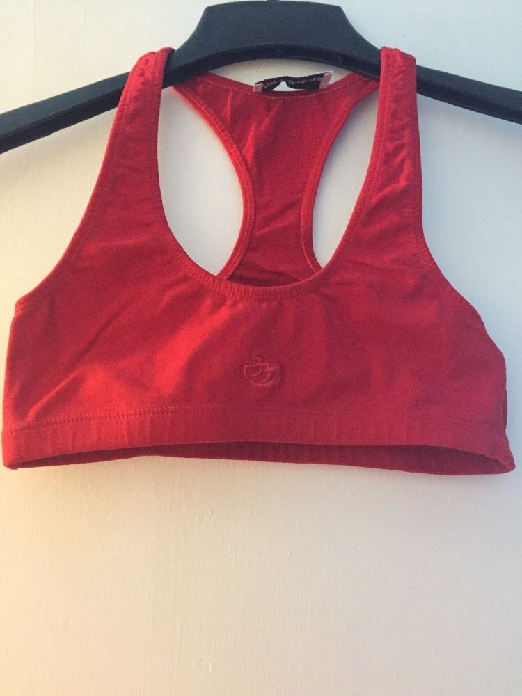EUC Red Sports Bra Exercise Yoga Top XS eBay Red