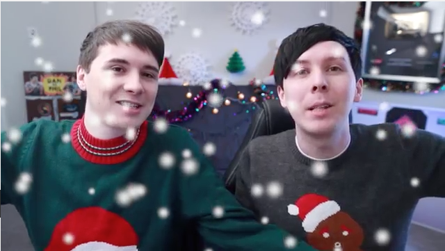 Dan And Phil Christmas Sweater.Merry Christmas The Howlter Family Christmas Dan And Phil