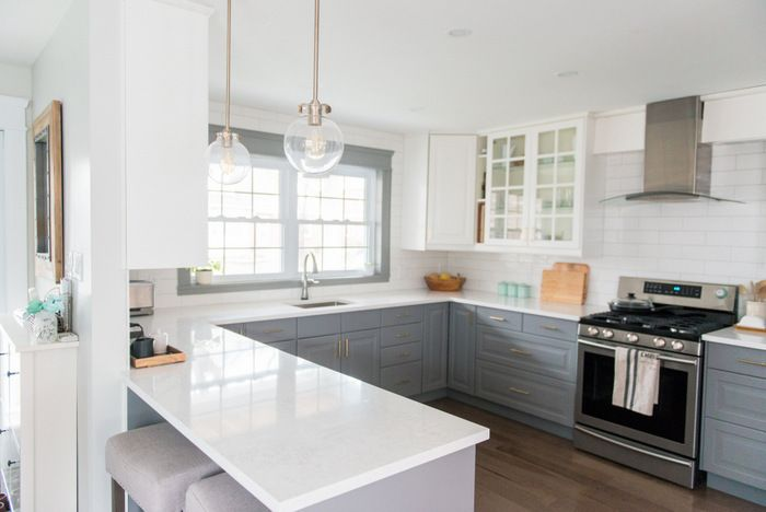 Countertop Options Ikea : kitchen makeover using IKEA cabinetry, marble like quartz countertops ...