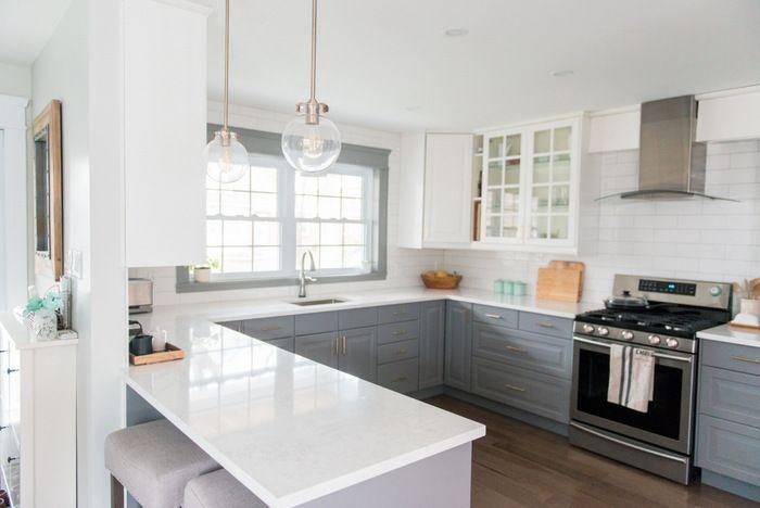 Best A Gray And White Ikea Kitchen Transformation White Ikea 400 x 300