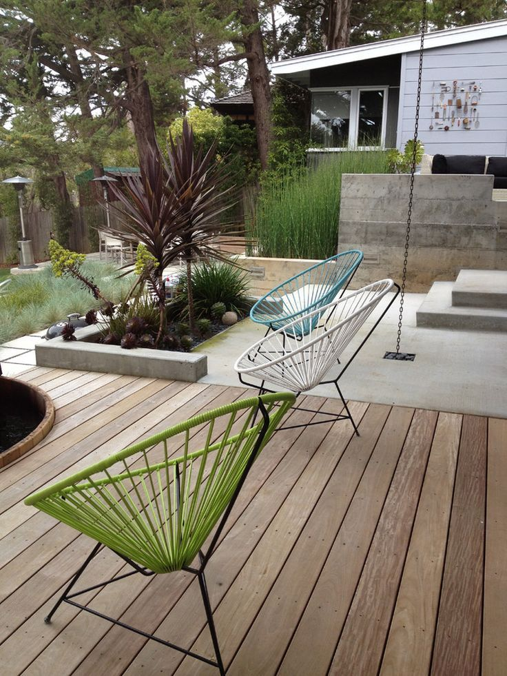 21 stunning midcentury patio designs for outdoor spaces on modern deck patio ideas for backyard design and decoration ideas id=26595