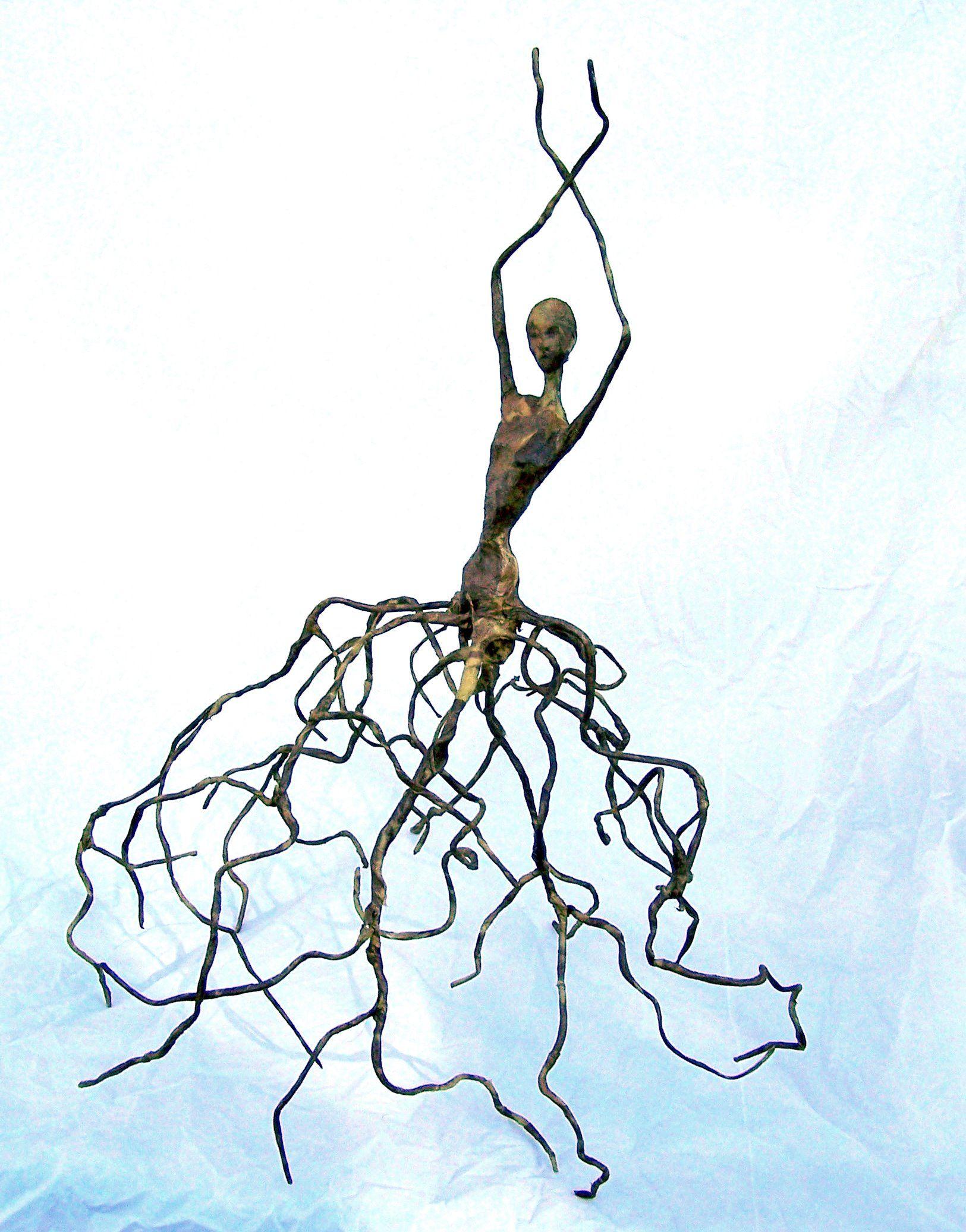 figurative paper one of a kind paper mache sculpture by. Black Bedroom Furniture Sets. Home Design Ideas