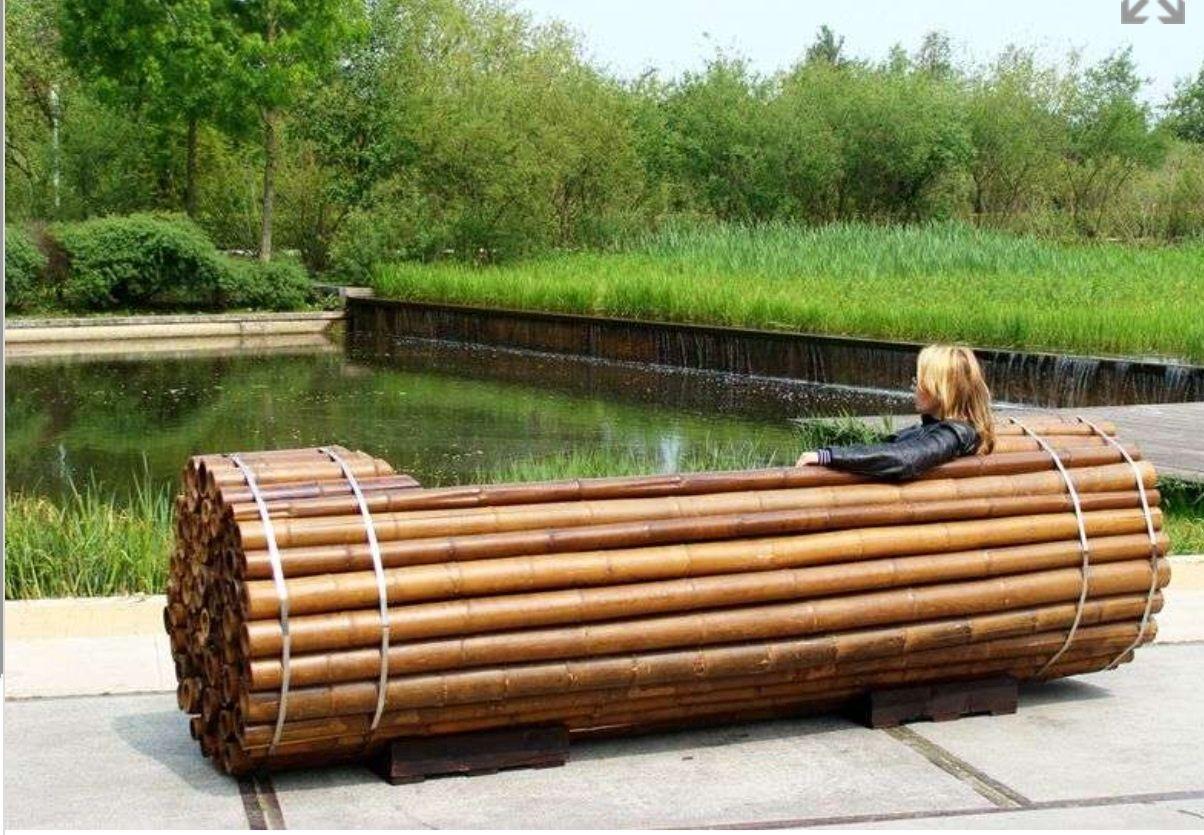 Vista Trasera De Asiento De Ca As De Bamb Bamboo Diy  ~ Cañas De Bambu Verdes Para Decorar