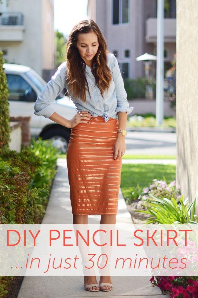 30-Minute DIY Pencil Skirt